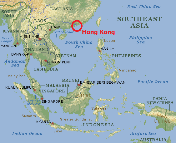 Ligging Hong Kong (Hongkong) - S.A.R. China