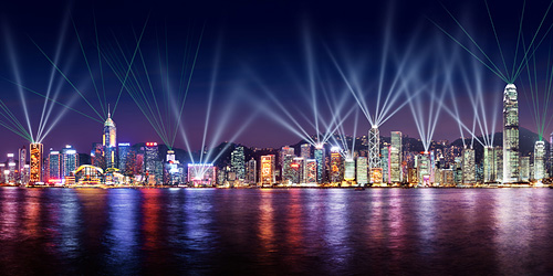 Symphony of Lights tijdens een Victoria Harbour Cruise - Hong Kong, S.A.R. China