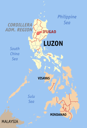 Ligging van de provincie Ifugao op Luzon Island, Filipijnen