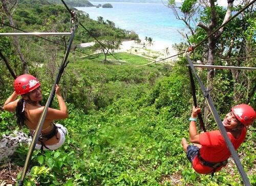 Zipline avontuur (zittend) - Boracay, Western Visayas, Filipijnen