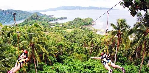 Zipline avontuur als Superman - Boracay, Western Visayas, Filipijnen