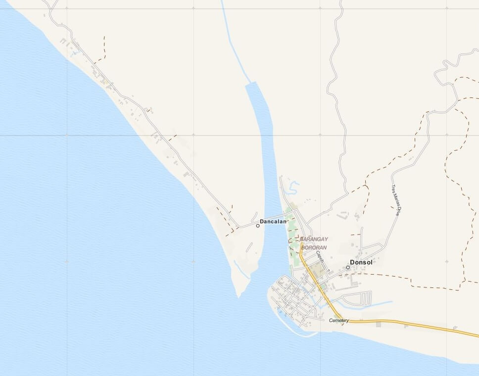 Kaart Donsol, Luzon, Filipijnen