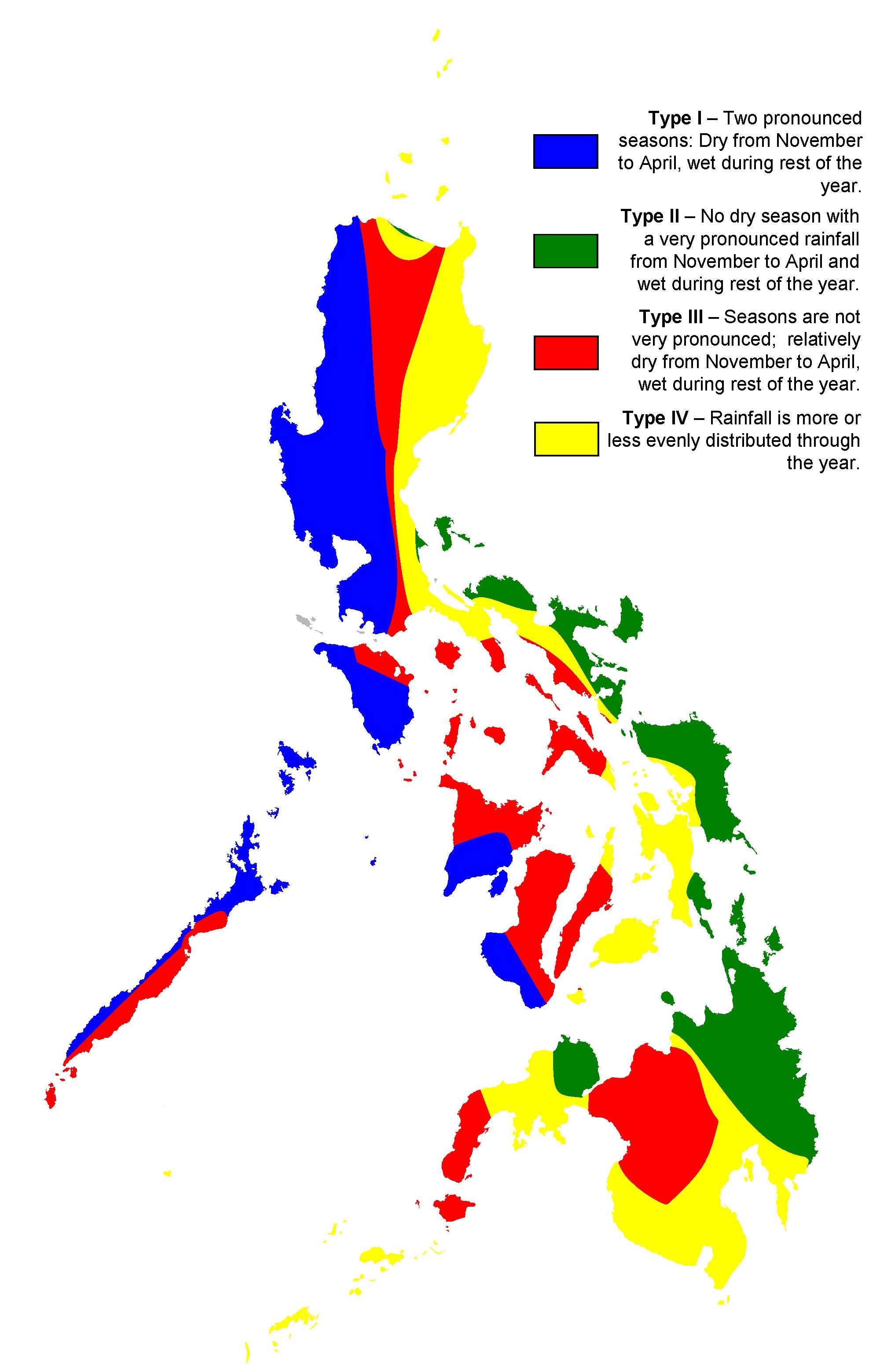 Klimaatgebieden in de Filipijnen