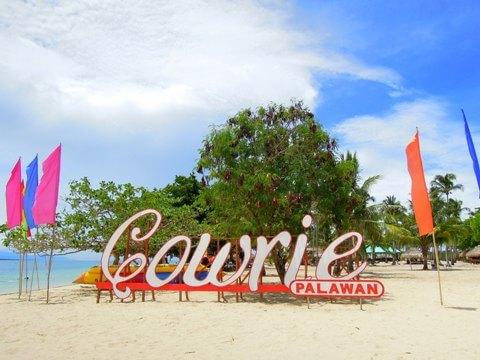 Cowrie Island in de Honda Bay - Puerto Princesa, Palawan, Filipijnen
