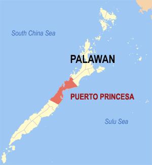 Gemeente Puerto Princesa op Palawan Island, Filipijnen