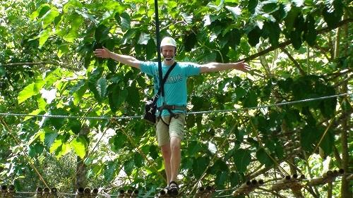 Skywalk Adventure in het Irawan Eco-Park - Puerto Princesa, Palawan, Filipijnen