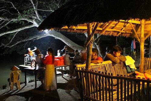 Vertrekpunt vuurvliegjes tour aan de Iwahig River - Puerto Princesa, Palawan, Filipijnen