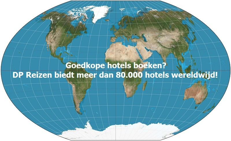 DP Reizen biedt meer dan 80.000 goedkope hotels wereldwijd!
