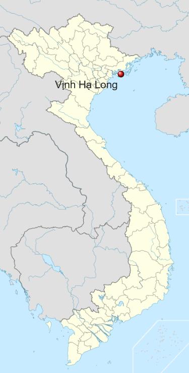 Locatie Halong Bay - Noord Vietnam