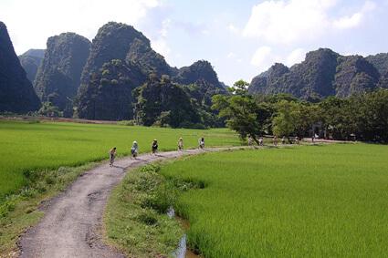 Fietstour Tam Coc - Ninh Binh, Vietnam