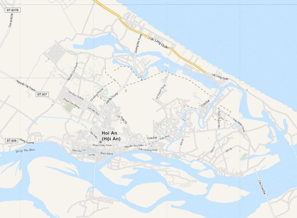 Plattegrond Hoi An, Midden Vietnam