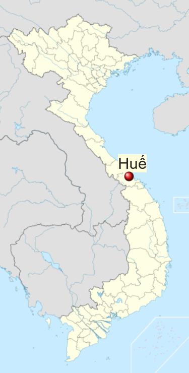 Locatie Hue - Midden Vietnam