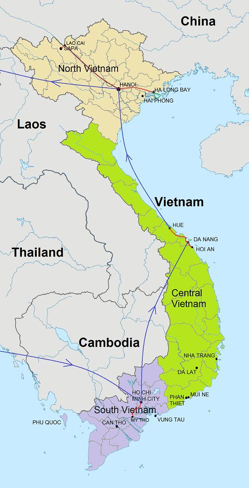 Route Rondreis Highlights Vietnam