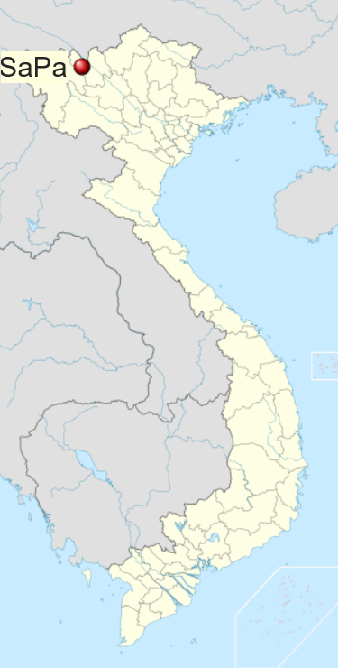 Locatie Sapa - Noord Vietnam